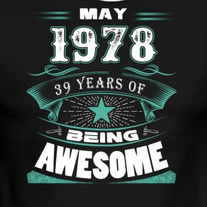May 1978 - 39 years of being awesome - Men's Ringer T-Shirt