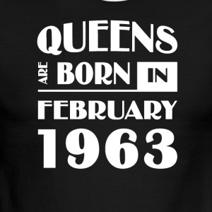 Queens are born in February 1963 - Men's Ringer T-Shirt