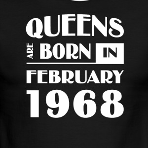 Queens are born in February 1968 - Men's Ringer T-Shirt