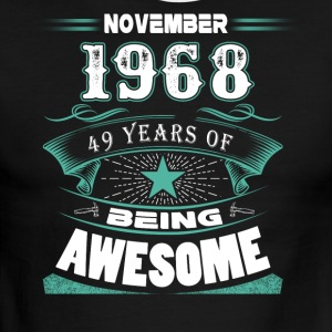November 1968 - 49 years of being awesome - Men's Ringer T-Shirt