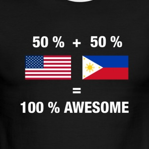 Half Filipino Half American 100% Awesome Philippin - Men's Ringer T-Shirt