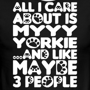All I Care About Is My Yorkie Shirt - Men's Ringer T-Shirt