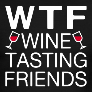 WTF Wine Tasting Friends - Men's Ringer T-Shirt