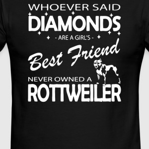 Whoever said diamonds are a girls best friend - Men's Ringer T-Shirt