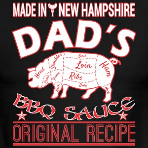 Made New Hampshire Dads BBQ Sauce Original Recipe - Men's Ringer T-Shirt