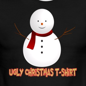 Ugly Christmas T Shirt Snowman - Men's Ringer T-Shirt