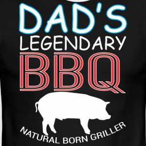 Dads Legendary BBQ Natural Born Griller Barbecue - Men's Ringer T-Shirt