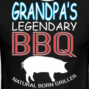 Grandpas Legendary BBQ Natural Born Griller - Men's Ringer T-Shirt