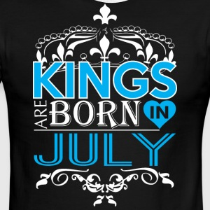 Kings Are Born In July Happy Fathers Day - Men's Ringer T-Shirt