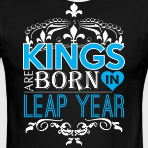 Kings Are Born In Leap Year Happy Fathers Day - Men's Ringer T-Shirt