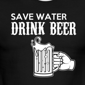 Save Water Drink Beer T-shirt - Men's Ringer T-Shirt