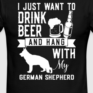 I Just Want To Drink Beer and Hang With My GERMAN - Men's Ringer T-Shirt