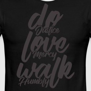 Do Justice. Love Mercy. Walk Humbly - Men's Ringer T-Shirt