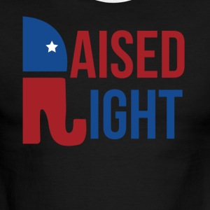 Raised Right Republican TShirt - Men's Ringer T-Shirt