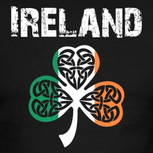 Nation-Design Ireland Shamrock - Men's Ringer T-Shirt