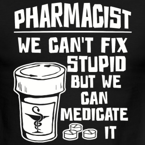 Medical symbol - Pharmacist We Can't Fix Stupid - Men's Ringer T-Shirt