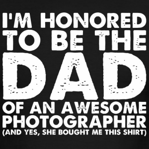 Photographer - Mens Dad Of An Awesome Photograph - Men's Ringer T-Shirt
