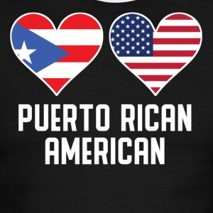 Puerto Rican American Heart Flags - Men's Ringer T-Shirt