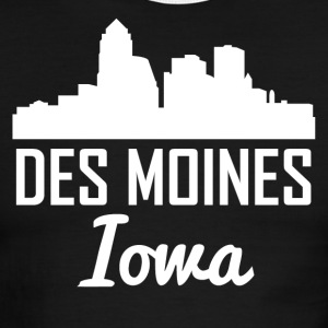 Des Moines Iowa Skyline - Men's Ringer T-Shirt