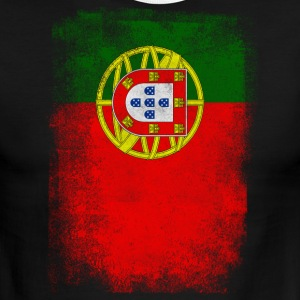 Portugal Flag Proud Portuguese Vintage Distressed - Men's Ringer T-Shirt