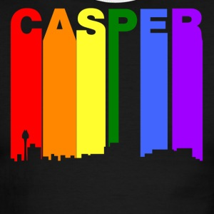 Casper Wyoming Gay Pride Rainbow Skyline - Men's Ringer T-Shirt