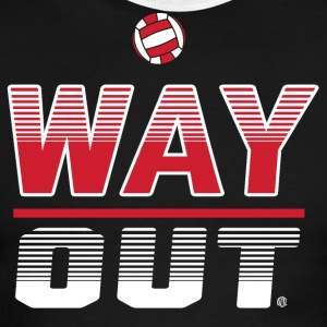 Way Out Volleyball Team Design - Men's Ringer T-Shirt