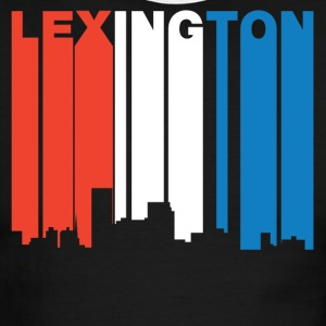 Red White And Blue Lexington Kentucky Skyline - Men's Ringer T-Shirt