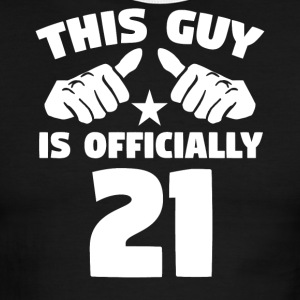 This Guy Is Officially 21 Years Old 21st Birthday - Men's Ringer T-Shirt