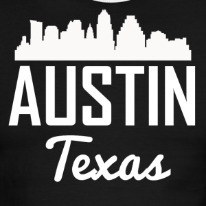Austin Texas Skyline - Men's Ringer T-Shirt