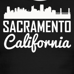 Sacramento California Skyline - Men's Ringer T-Shirt