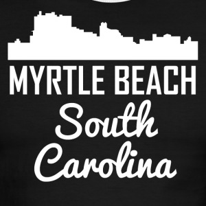 Myrtle Beach South Carolina Skyline - Men's Ringer T-Shirt