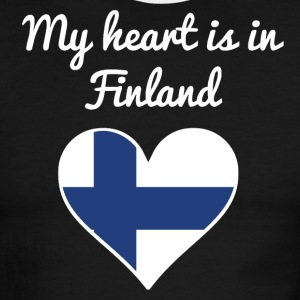 My Heart Is In Finland - Men's Ringer T-Shirt