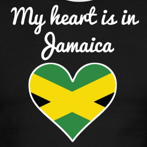 My Heart Is In Jamaica - Men's Ringer T-Shirt