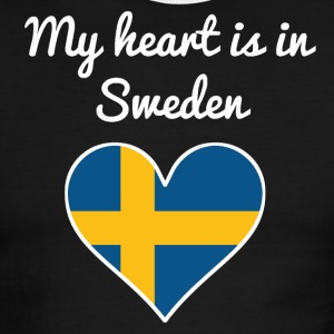 My Heart Is In Sweden - Men's Ringer T-Shirt