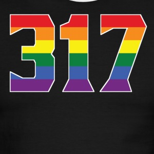 Gay Pride 317 Indianapolis Area Code - Men's Ringer T-Shirt