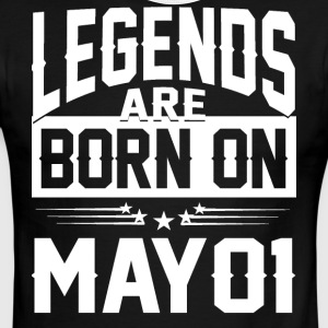 Legends are born on May 01 - Men's Ringer T-Shirt