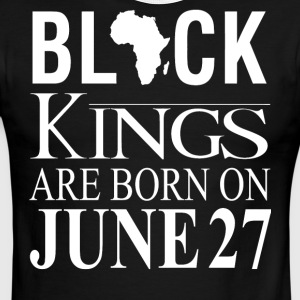 Black Kings Born on June 27 - Men's Ringer T-Shirt