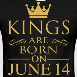 Kings are born on June 14 - Men's Ringer T-Shirt