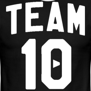 TEAM 10 TEN arc - white - Men's Ringer T-Shirt
