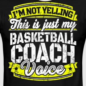 Funny Basketball coach: My Basketball Coach Voice - Men's Ringer T-Shirt