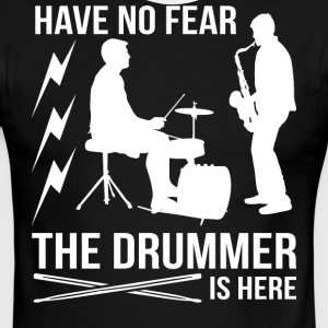 The Drummer Is Here T Shirt - Men's Ringer T-Shirt
