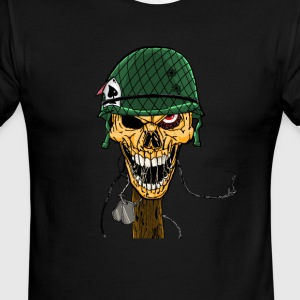 Skull of Spades - Men's Ringer T-Shirt