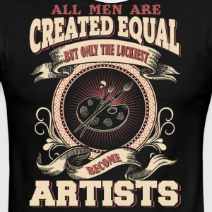 The Luckiest Men Become Artists - Men's Ringer T-Shirt