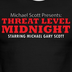 Threat Level Midnight - Men's Ringer T-Shirt