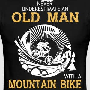An Old Man With A Mountain Bike T Shirt - Men's Ringer T-Shirt