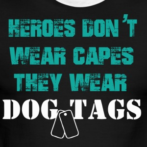 HEROES DOG TAGS | Army,Navy,Police - Men's Ringer T-Shirt