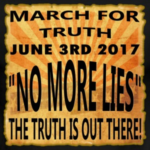March For Truth - 6-3-2017-No More Lies - Men's Ringer T-Shirt