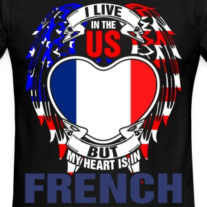I Live In The Us But My Heart Is In French - Men's Ringer T-Shirt
