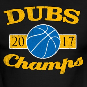 DUBS 2017 CHAMPIONS WARRIORS SHIRT - Men's Ringer T-Shirt