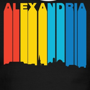 Retro 1970's Style Alexandria Virginia Skyline - Men's Ringer T-Shirt